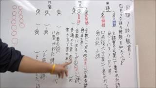 国語~詩の鑑賞①~