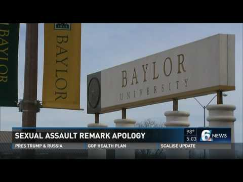 Sexual assault remark apology