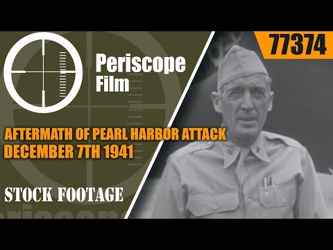 AFTERMATH OF PEARL HARBOR ATTACK  DECEMBER 7th 1941  77374