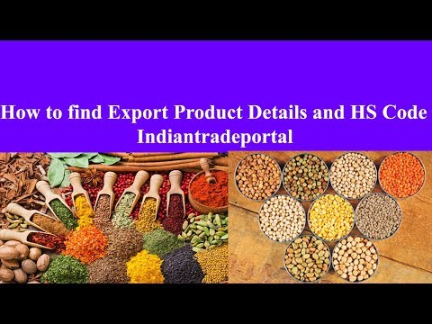 HOW TO FIND EXPORT PRODUCTS DETAILS And HS CODE | INDIANTRADEPORTAL | TAMIL | UDHAY | 10