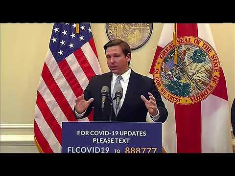 Florida Gov. Ron DeSantis Gives Update on COVID-19 Response | NBC 6
