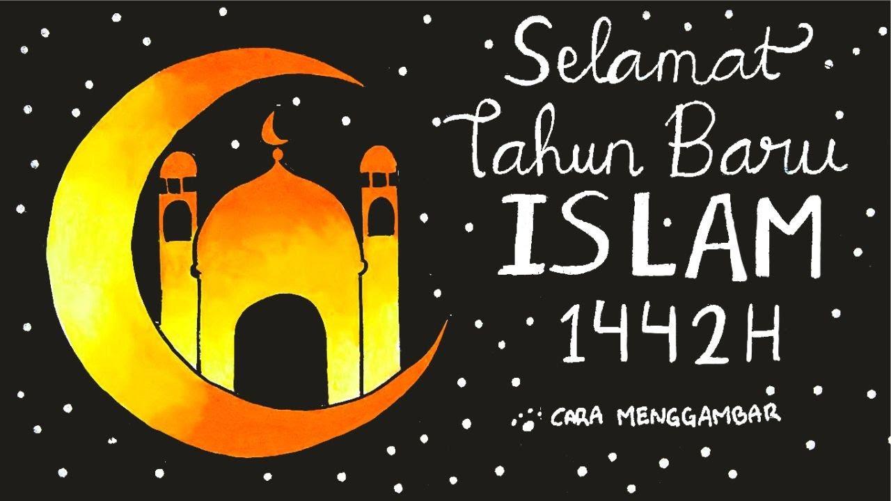 Cara Menggambar Membuat Poster Tahun Baru Islam 1 Muharram 1442 H Ep 224 Youtube
