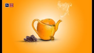 Photoshop Creative art Orange kettles manipulation | Speed Art | by Ju Joy Design Bangla