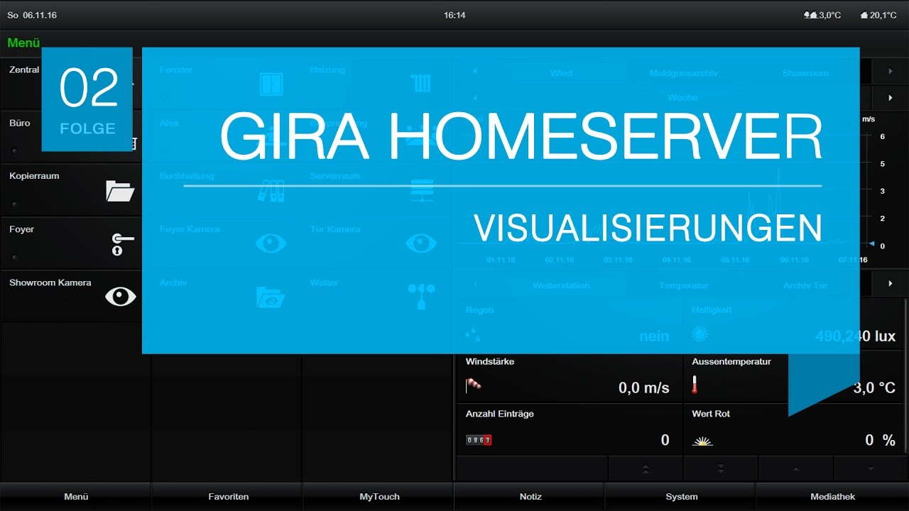 gira homeserver visualisierungen youtube. Black Bedroom Furniture Sets. Home Design Ideas