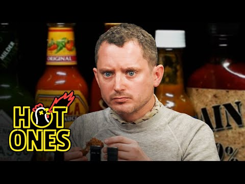 Elijah Wood Tastes the Lava of Mount Doom While Eating Spicy Wings | Hot Ones