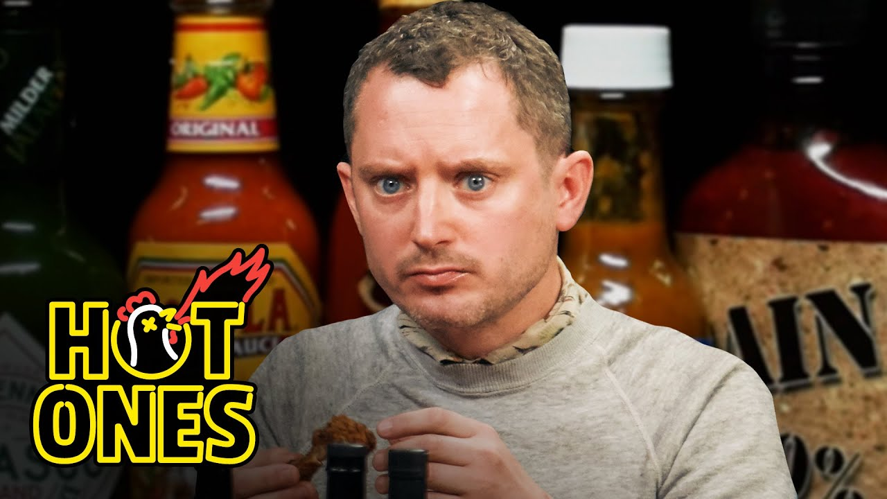 Download Elijah Wood Tastes the Lava of Mount Doom While Eating Spicy Wings | Hot Ones