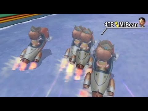 Mario Kart Wii - Multiple ghosts at once in Time Trial!