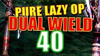 Skyrim Pure Lazy OP Dual Wield Walkthrough Part 40: Beat Down on Bleak Falls
