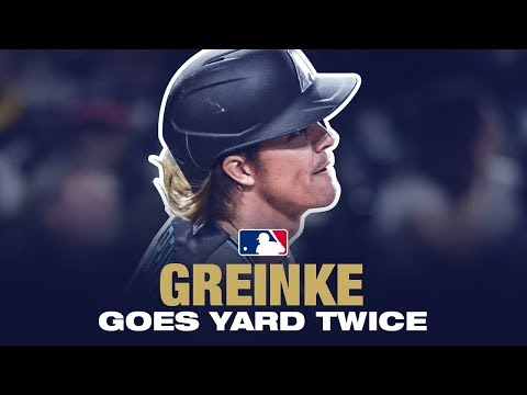 Pitchers Who Rake x 2! Greinke goes deep TWICE!