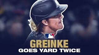 Pitchers Who Rake x 2! Greinke goes deep TWICE!