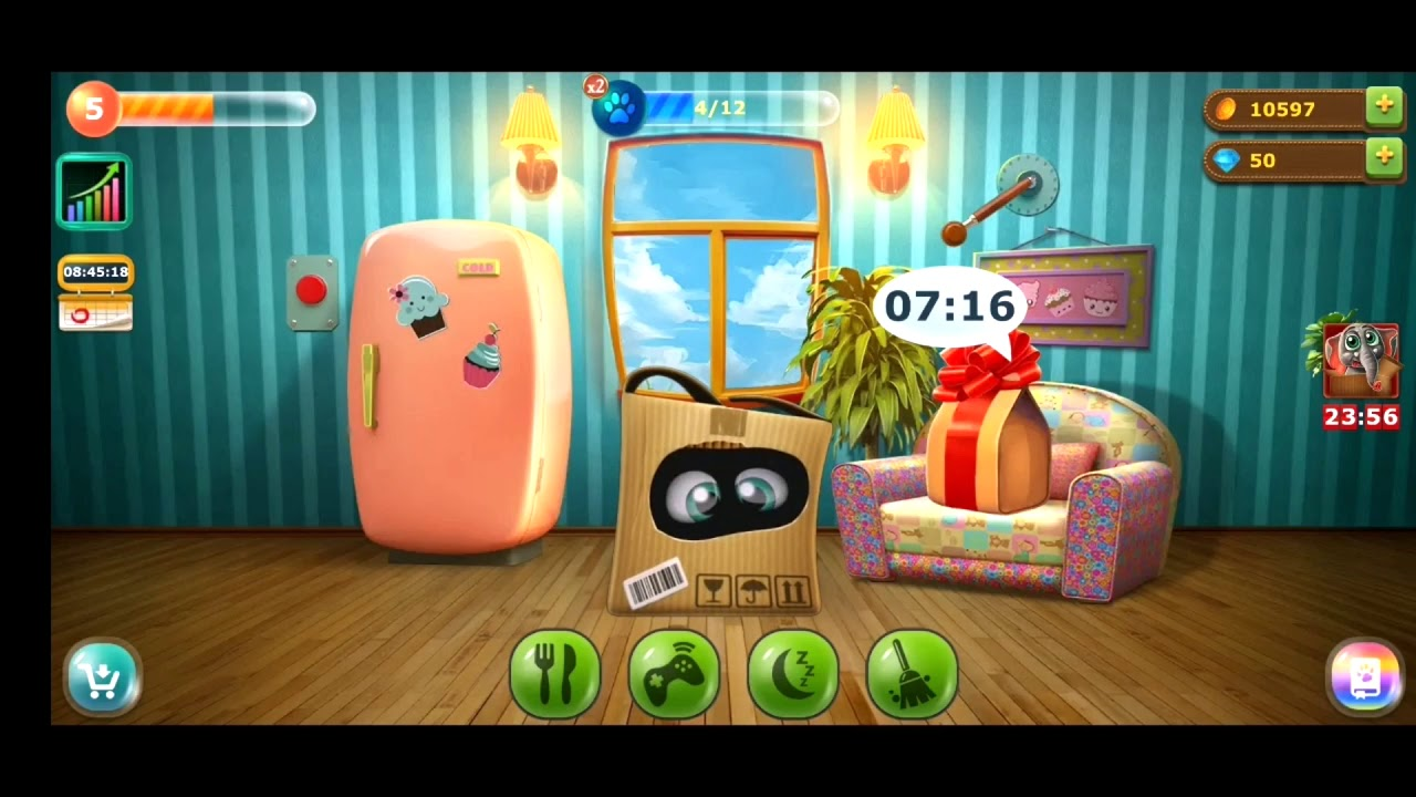 Pet Box Gaming app - Toby takes care of animals