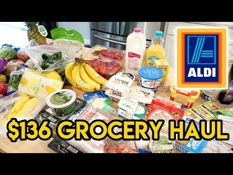 $136 Aldi Haul + Meal Plan 😁 Grocery Haul for a Family of 4 🛒 Grocery Haul and Meal Plan
