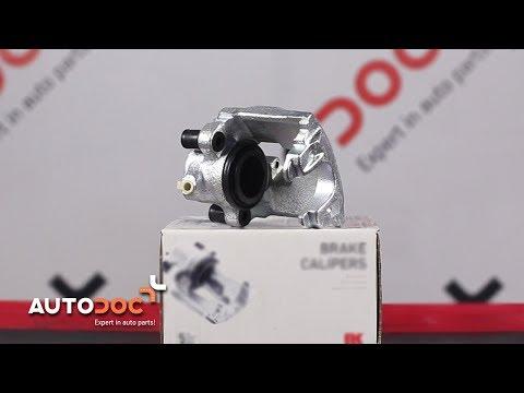 How to replace front brake caliper MERCEDES-BENZ E W210 TUTORIAL   AUTODOC
