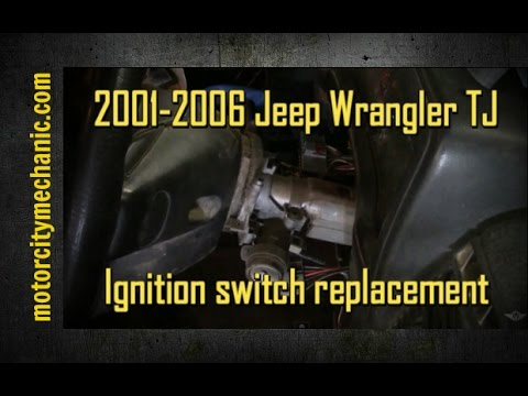 2001-2006 Jeep Wrangler electrical portion of the ignition switch