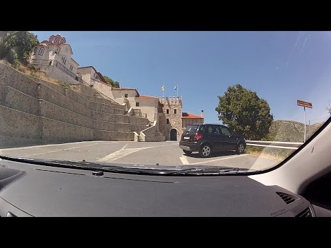 Tripoli - Monastery of Varses (City and mountain road driving, Greece) - onboard camera