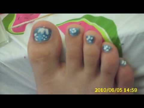 Easy Simple Daisy Flower Style Toe Nails Design How To For Summer
