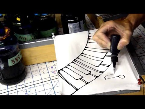 HOW TO DRAW A PIANO KEYBOARD for silk painting MUSIC Part 1