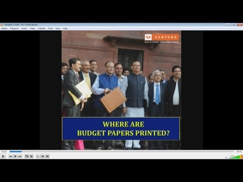 Where The National Budget Papers Are Printed ?