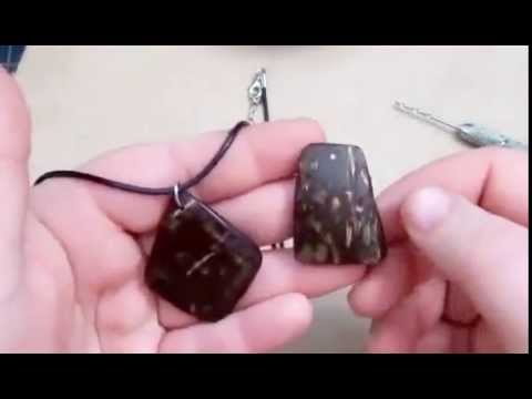 How To Made A Beautiful Coconut Shell Pendants [Hand Made Art ] p2