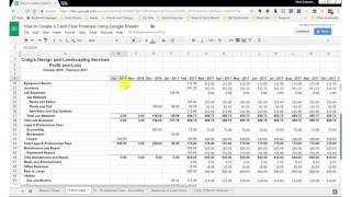 How to Create a Cash Flow Forecast Using Google Sheets