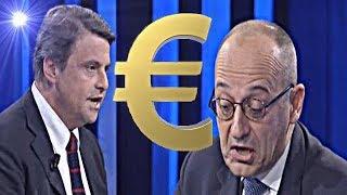 Calenda umilia il salviniano Bagnai : non vuoi più uscire dall' € ora che hai la poltrona , eh ?