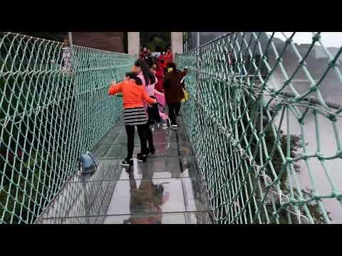 Glass bridge, Ordovician park Chongqing China (Dan's world bicycle tour)