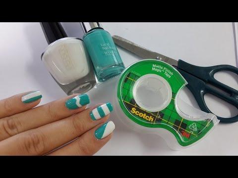 5 diseños de uñas FÁCILES con cinta adhesiva