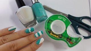 5 diseños de uñas FÁCILES con cinta adhesiva thumbnail