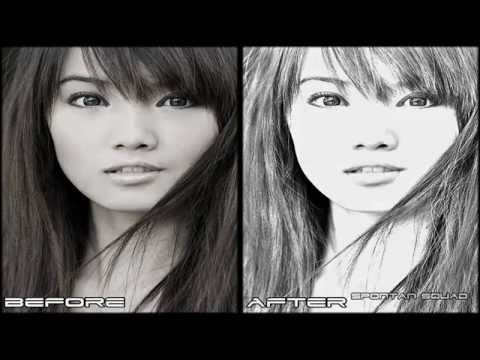 Adobe Photoshop CS5  Pencil Sketch Effect