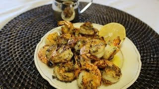 Broiled Shrimp With Ladolemono
