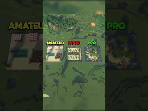Minecraft Build Battle: Noob vs. Amateur vs. Pro