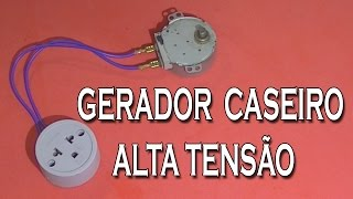 Como Fazer GERADOR DE ALTA TENSAO CASEIRO