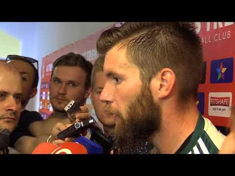 Igor Šemrinec po stretnutí AS Trenčín - Feyenoord Rotterdam 4:0 (3:0)
