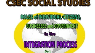 role of individuals and government to