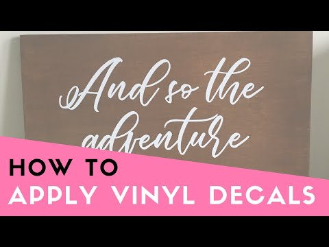 HOW TO: Apply Vinyl Decals tutorial QUICK (Vinyl stickers, Wedding signage, Wooden sign how to)