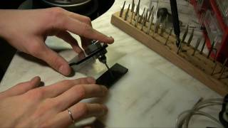 sharpening gravers with phil coggan bulino point template