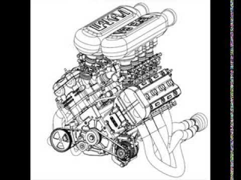 Hayabusa V8 engine