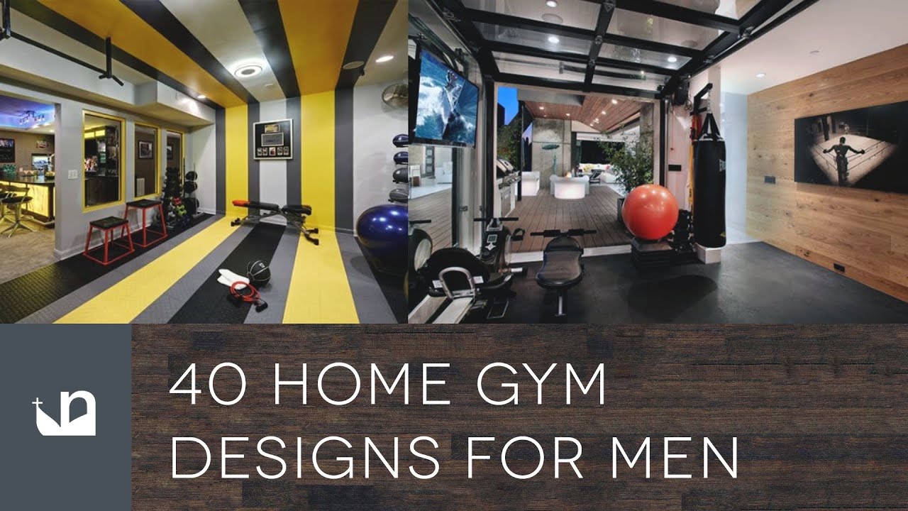 40 Private Home Gym Designs For Men - YouTube