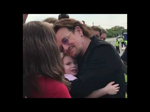 Fans meeting Bono in Uniondale NY June 9 2018 + concert snippets U2