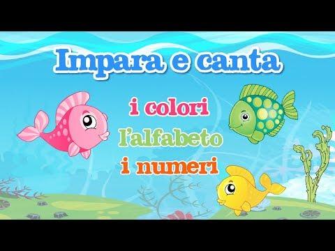Impara e canta con gli amici pesciolini i colori, l'alfabeto e i numeri - canzoni per bambini