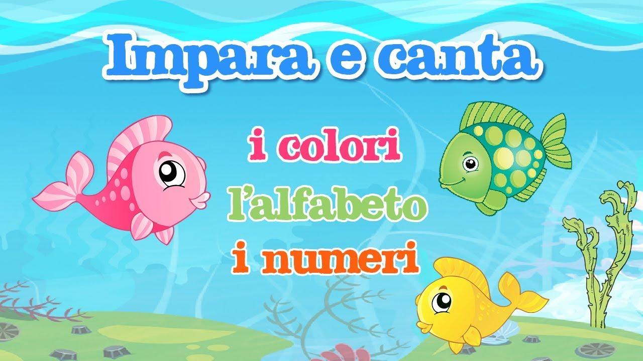 Impara e canta con gli amici pesciolini i colori l for Pesciolini da colorare per bambini
