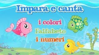 Impara con gli amici pesciolini i colori, l'alfabeto e i numeri - canzoni @MelaMusicTV