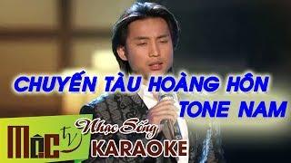 Chuyến Tàu Hoàng Hôn | Karaoke Đan Nguyên | Tone Nam