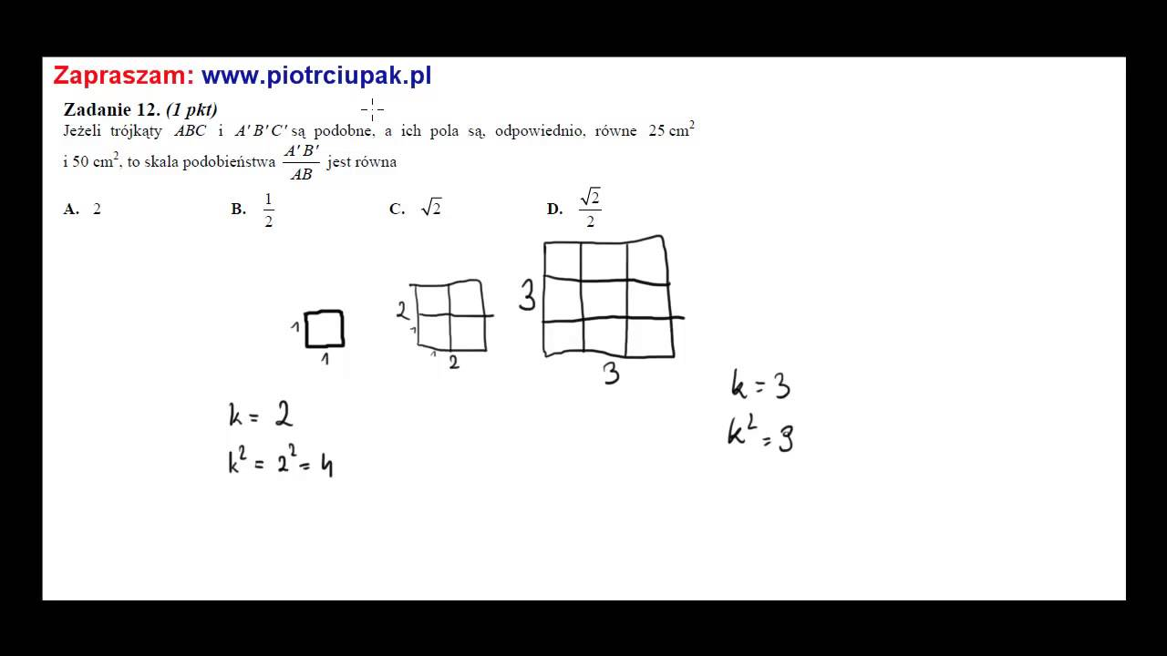 Ich B jeżeli trójkąty abc i a b c są podobne a ich pola są