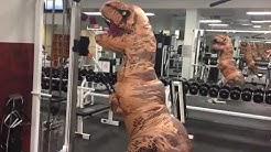 Aufblasbares T-Rex Jurassic Park Kostüm 2 Farben Fasnacht Karneval Fasching