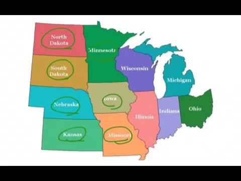 Midwest State Locations  YouTube