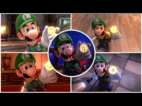 Luigi's Mansion 3 - All Floor Buttons Cutscenes Movie