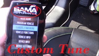 how to load custom tune for sct x4   lund tune   s550 mustang build