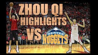 ZHOU QI SICK ASSIST TO HARDEN AND BLOCK! Zhou Qi Highlights/ Lowlights vs Nuggets (22.11.17)