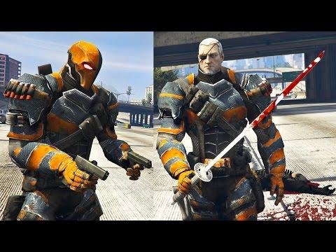 GTA 5 Mods - ULTRA REALISTIC DEATHSTROKE MOD! GTA 5 Deathstroke Mod Gameplay! (GTA 5 Mod Gameplay)